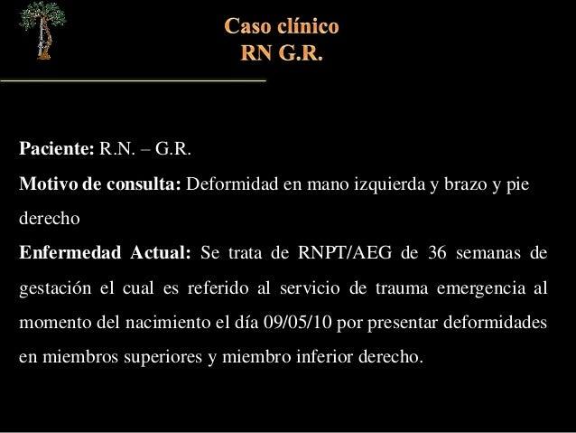 Caso clínico BANDAS AMNIOTICAS Slide 2