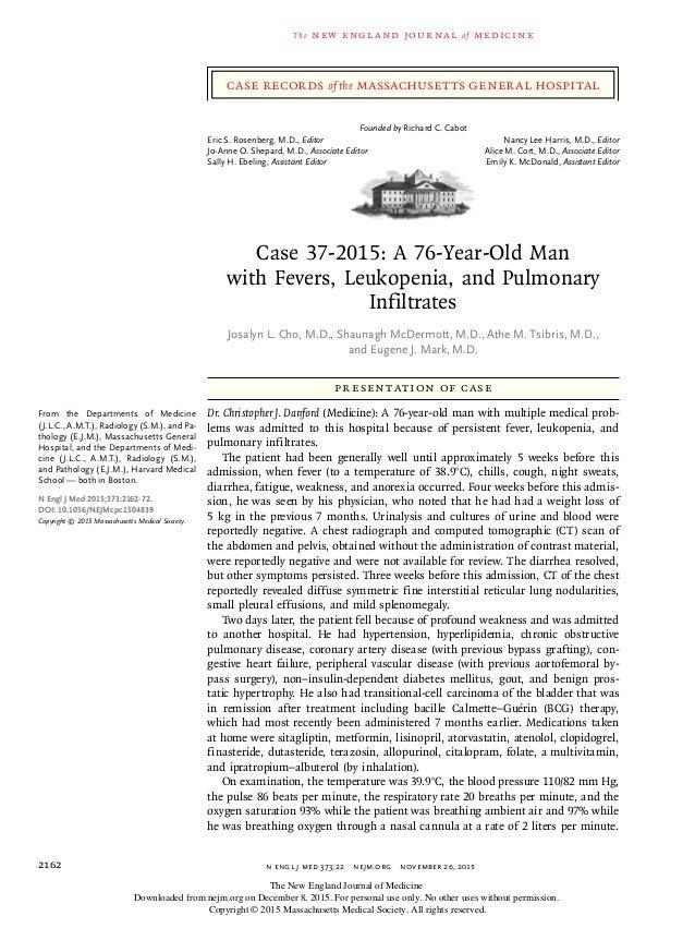 n engl j med 373;22nejm.org November 26, 20152162 The new engl and jour nal of medicine Presentation of Case Dr. Christo...