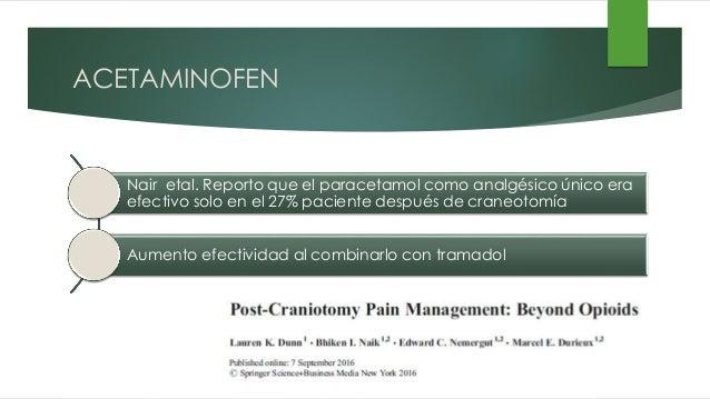 Caso clínico analgesia en craneotomía