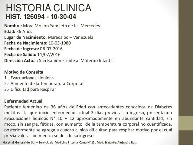 Caso clinico cetoacidosis diabetica