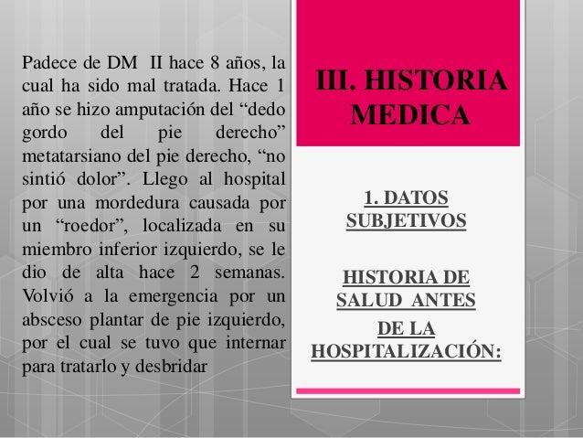 Caso clinico Diabetes Mellitus Tipo II