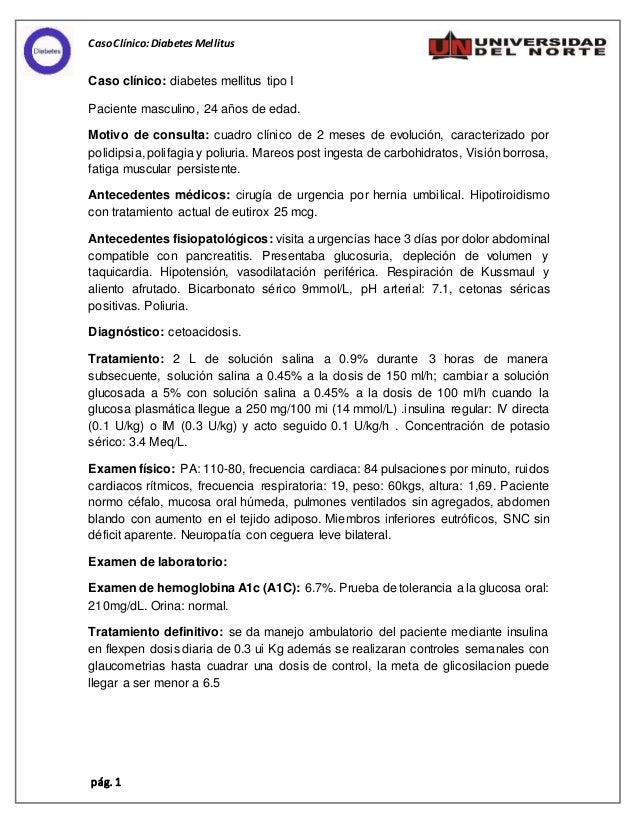 Caso clinico Diabetes Mellitus tipo 1