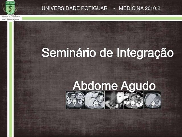 UNIVERSIDADE POTIGUAR - MEDICINA 2010.2