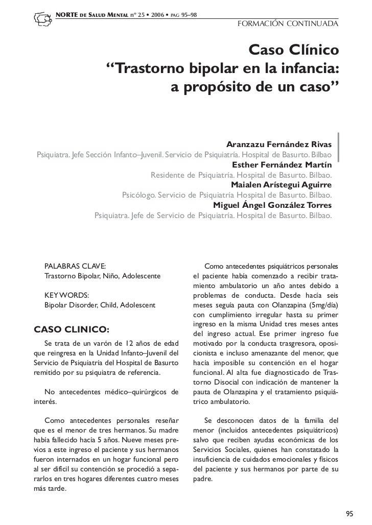 NORTE   DE   SALUD MENTAL nº 25 • 2006 • PAG 95–98                                                                     FOR...