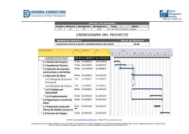 Contacto: informes@dharma-consulting.com, Página Web: www.dharmacon.neta Consulting ha sido revisada y aprobada como un pr...