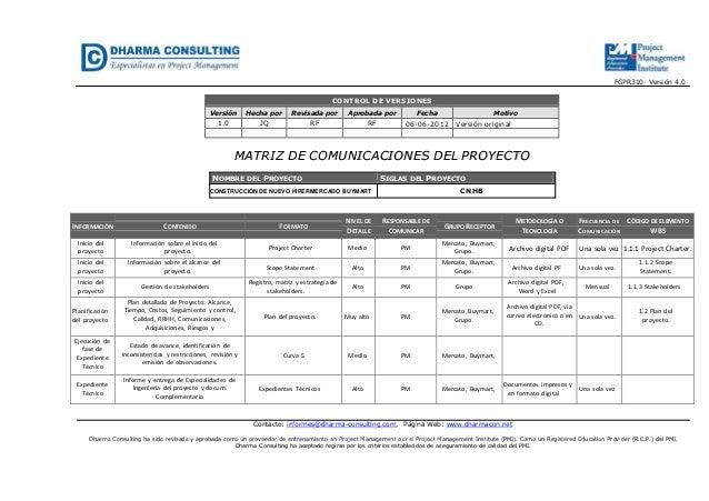 FGPR310- Versión 4.0Contacto: informes@dharma-consulting.com, Página Web: www.dharmacon.netDharma Consulting ha sido revis...