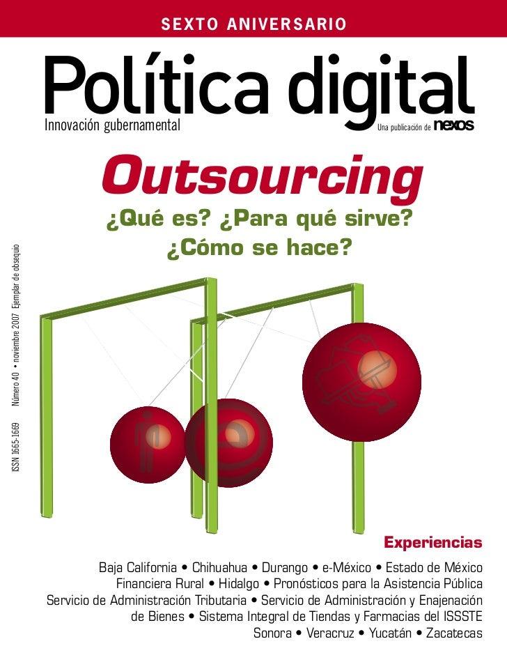 SEXTO ANIVERSARIO                                                  Política digital                                       ...