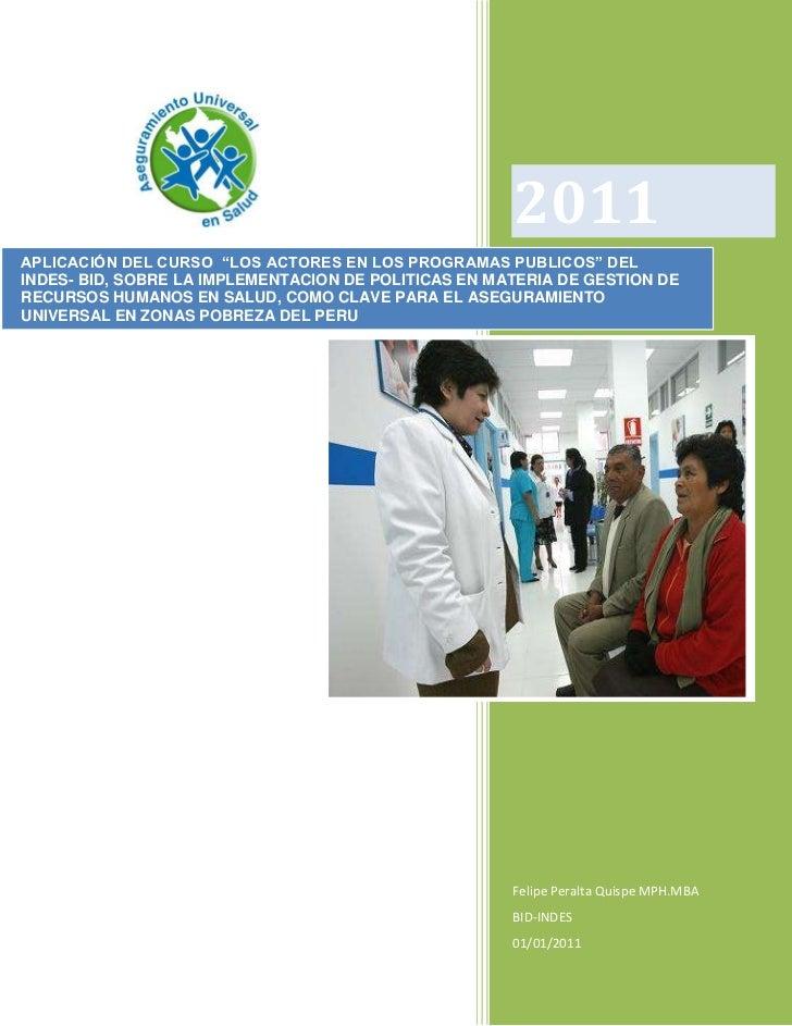 Aseguramiento universal en salud en zonas de pobreza del Perú