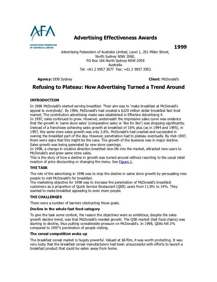Advertising Effectiveness Awards                                                                                          ...
