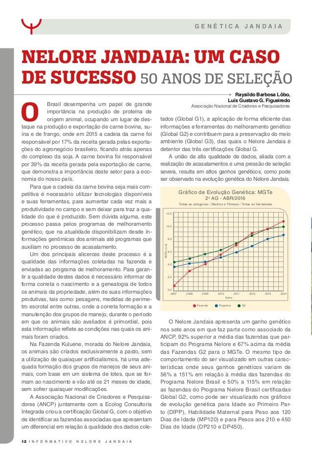 12 I N F O R M A T I V O N E L O R E J A N D A I A G E N É T I C A J A N D A I A O Brasil desempenha um papel de grande im...