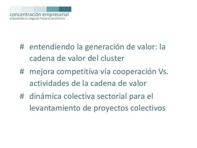 concentración empresarial orientando su negocio hacia la excelencia  # entendiendo la generación de valor: la cadena de va...
