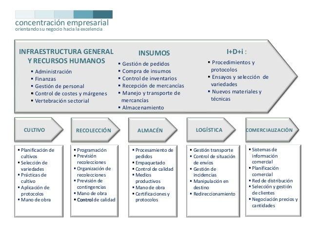 concentración empresarial orientando su negocio hacia la excelencia  INFRAESTRUCTURA GENERAL Y RECURSOS HUMANOS  Administ...
