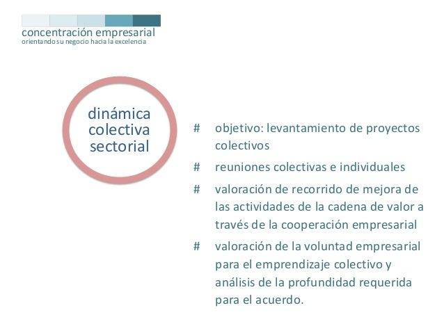 concentración empresarial orientando su negocio hacia la excelencia  dinámica colectiva sectorial  #  objetivo: levantamie...