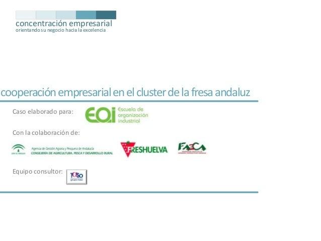 concentración empresarial orientando su negocio hacia la excelencia  cooperación empresarial en el cluster de la fresa and...