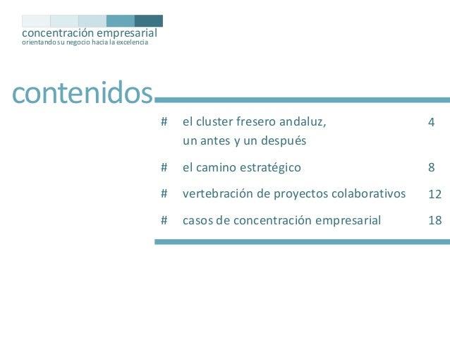 concentración empresarial orientando su negocio hacia la excelencia  contenidos #  el cluster fresero andaluz, un antes y ...
