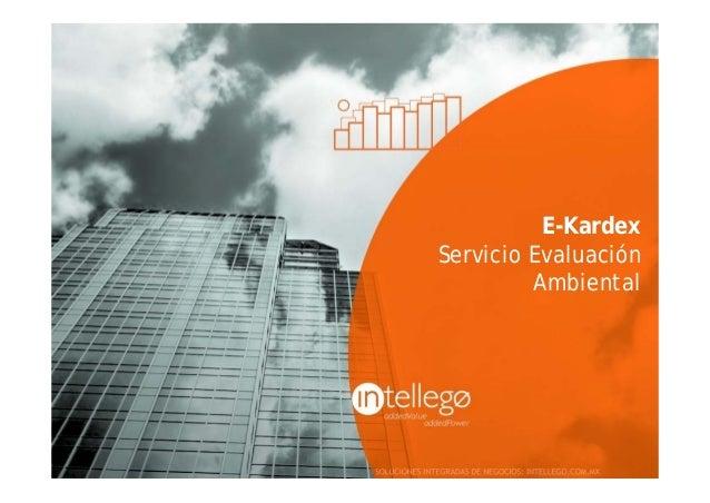 E-KardexServicio Evaluación         Ambiental