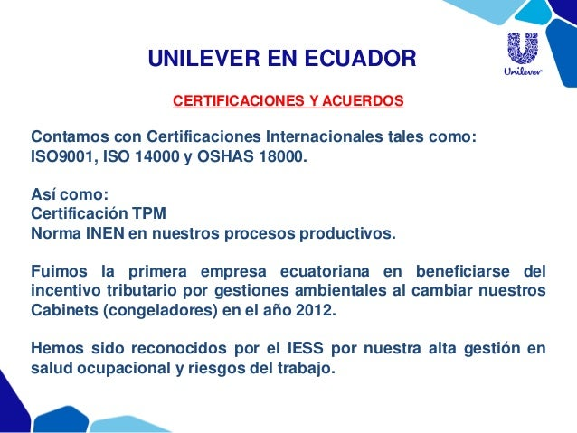 Unilever vision and mision