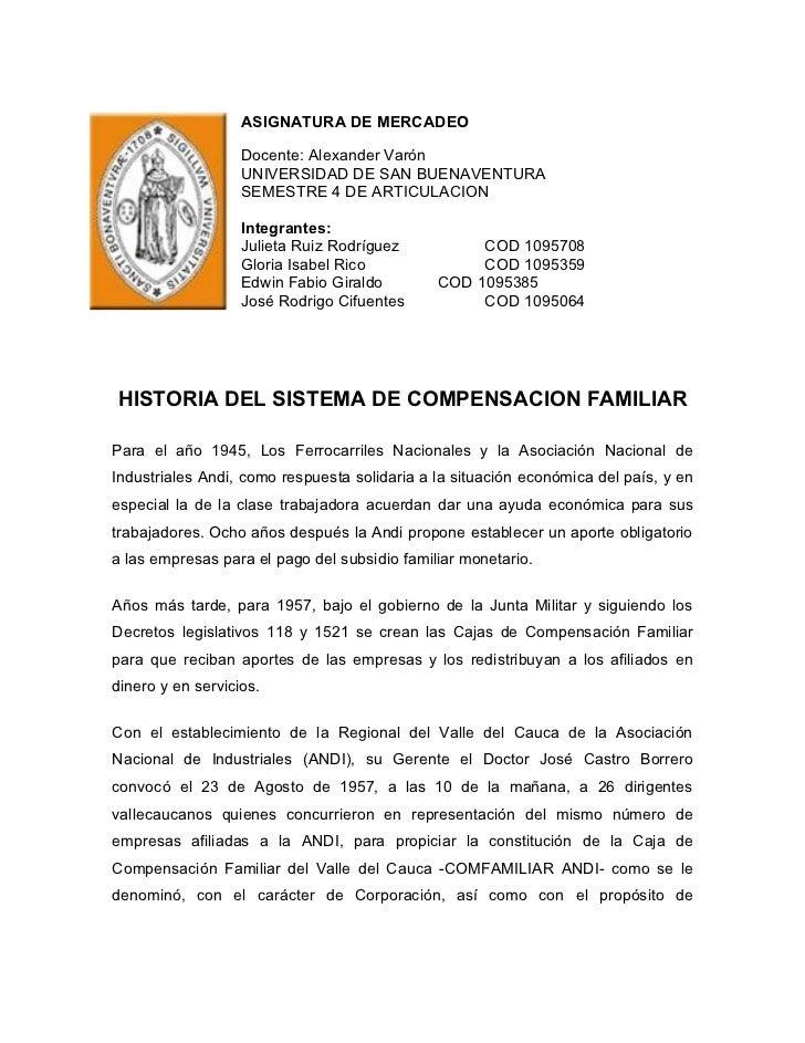 ASIGNATURA DE MERCADEO                   Docente: Alexander Varón                   UNIVERSIDAD DE SAN BUENAVENTURA       ...