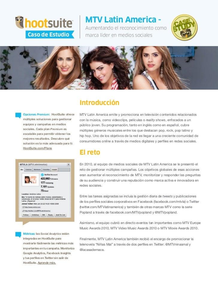 HootSuite Case Study - HootSuite y MTV Latin America (Español/Spanish)