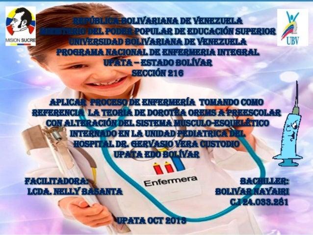 REPÚBLICA BOLIVARIANA DE VENEZUELA MINISTERIO DEL PODER POPULAR DE EDUCACIÓN SUPERIOR UNIVERSIDAD BOLIVARIANA DE VENEZUELA...