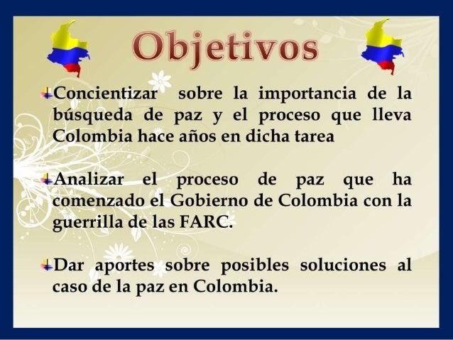 Caso, la paz en colombia Slide 3