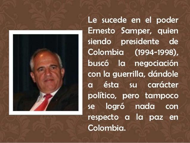 """Pero que el gobierno del                        Presidente Santos      """"ha                        deteriorado la seguridad..."""