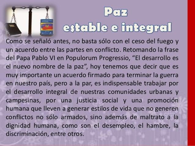 Por tanto, considero vital en el proceso de paz que viveColombia, que cada COLOMBIANO, viva la experiencia delperdón en su...