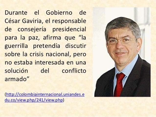 El ex presidente Álvaro                         Uribe (2002-2010) que                         buscó establecer en su      ...