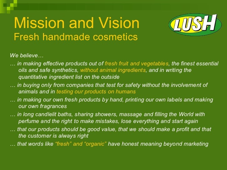 the body shop mission and vision
