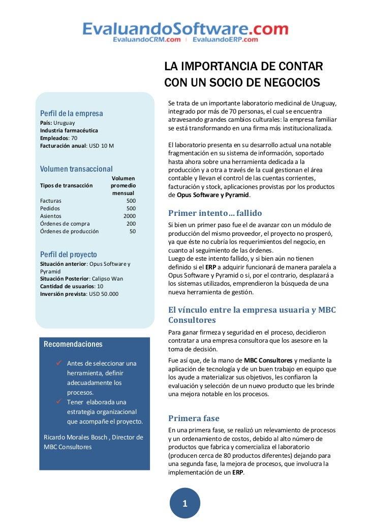 LA IMPORTANCIA DE CONTAR                                       CON UN SOCIO DE NEGOCIOS                                   ...