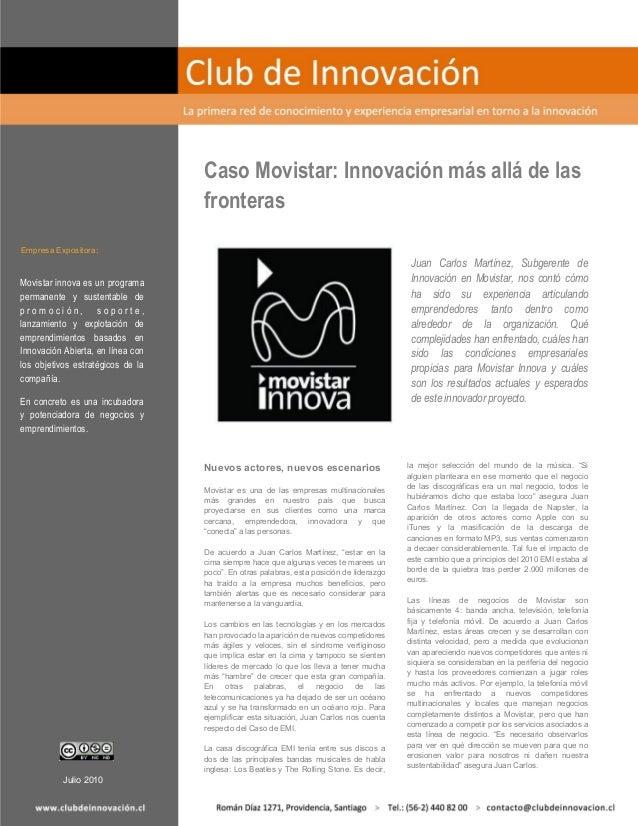 """"""" Ejemplos de Innovación: Casos prácticos """""""