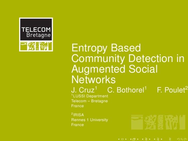 mm   40             60          80    100       120          Entropy Based40        Community Detection in          Augmen...