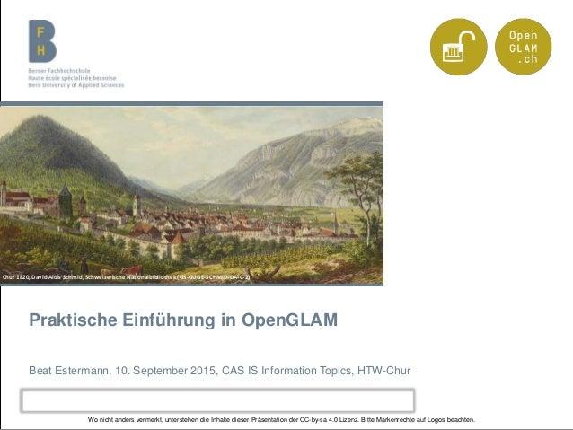 Berner Fachhochschule | Haute école spécialisée bernoise | Bern University of Applied Sciences Praktische Einführung in Op...