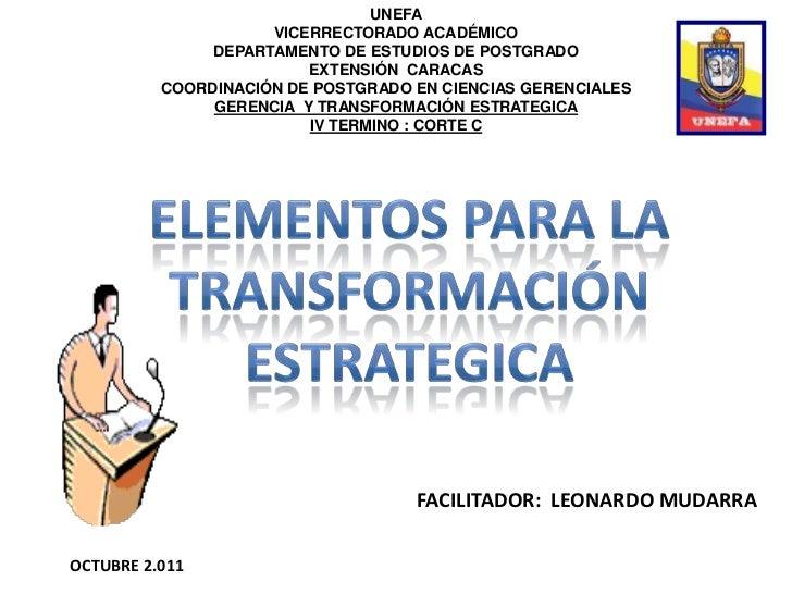 UNEFA                     VICERRECTORADO ACADÉMICO               DEPARTAMENTO DE ESTUDIOS DE POSTGRADO                    ...