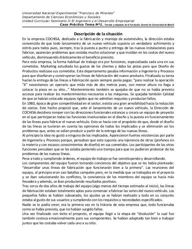 """Universidad Nacional Experimental """"Francisco de Miranda"""" Departamento de Ciencias Económicas y Sociales Unidad Curricular ..."""