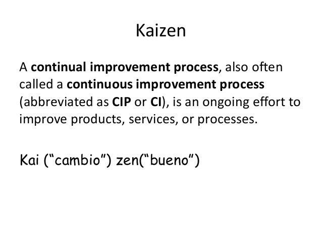 concepts of kaizen