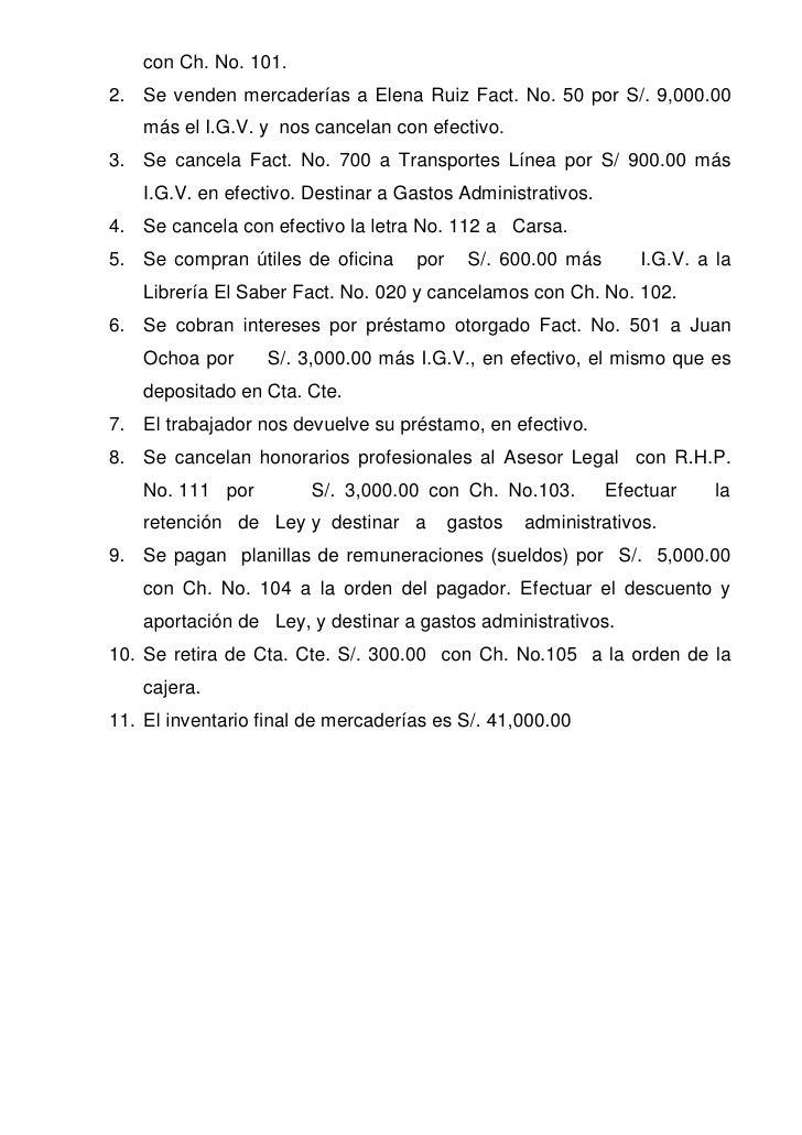 Caso PráCtico De AplicacióN De Los Nuevos Libros Y Registros Vinculados A Asuntos Tributarios Yuri Gonzales Renteria Slide 2