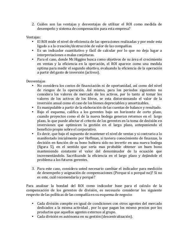 2. Cuáles   son   las   ventajas   y   desventajas   de   utilizar   el   ROI   como   medida   de...