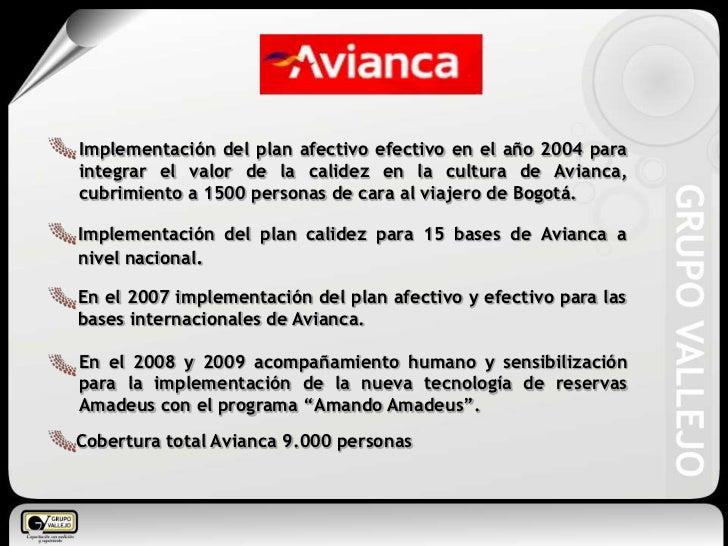 Implementación del plan afectivo efectivo en el año 2004 para integrar el valor de la calidez en la cultura de Avianca, cu...