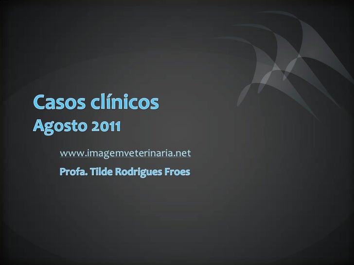 Casos clínicos Agosto 2011<br />www.imagemveterinaria.net<br />Profa. Tilde Rodrigues Froes<br />