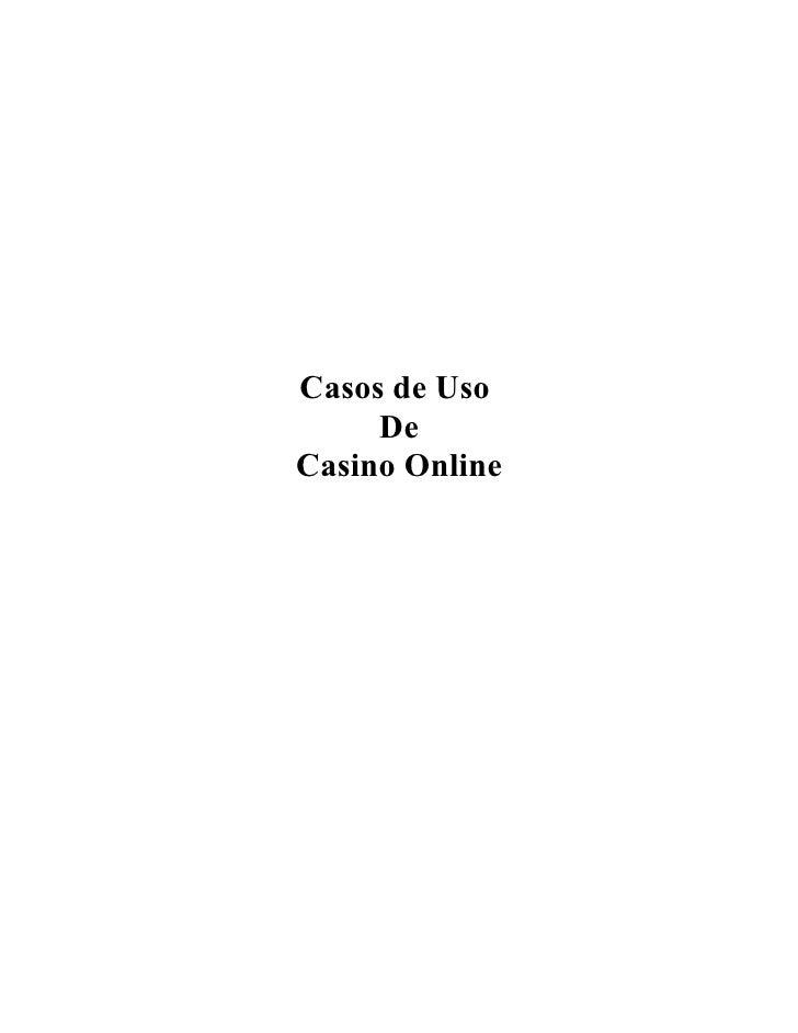 Casos de Uso     DeCasino Online