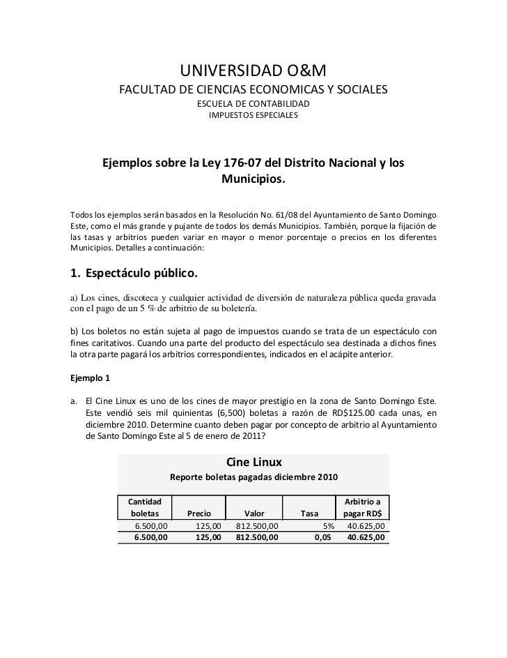 UNIVERSIDAD O&M            FACULTAD DE CIENCIAS ECONOMICAS Y SOCIALES                                  ESCUELA DE CONTABIL...