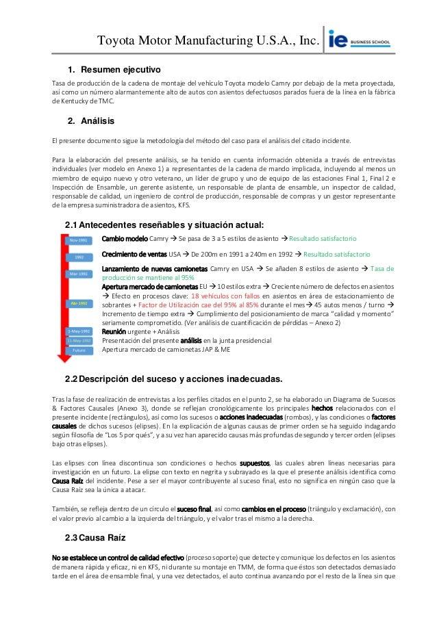 Informe individual - Caso Toyota Motor Company - Kentucky Slide 2