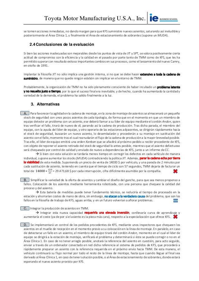 Informe individual - Caso Toyota Motor Company - Kentucky Slide 3