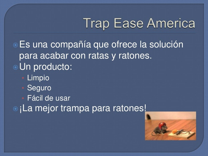 Caso trap ease america - Como acabar con los ratones en casa ...