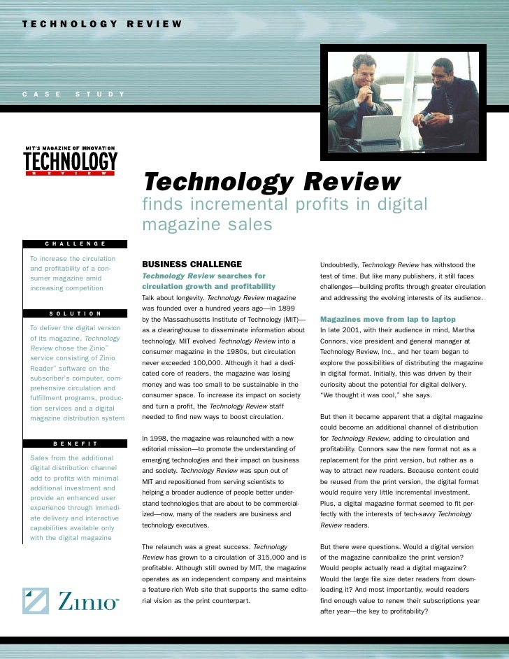 TECHNOLOGY REVIEW     C A S E        S T U D Y                                       Technology Review                    ...