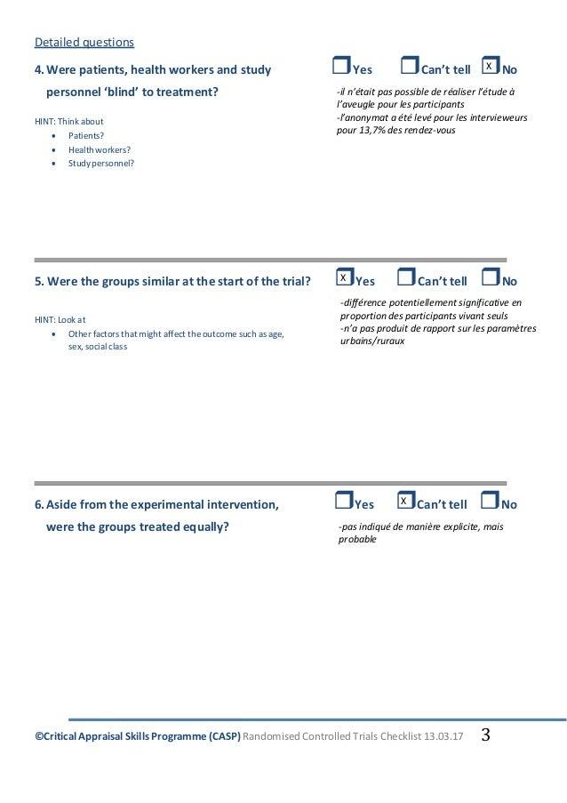 CRITICAL APPRAISAL SKILLS PROGRAMME (CASP): 12 Questions ...