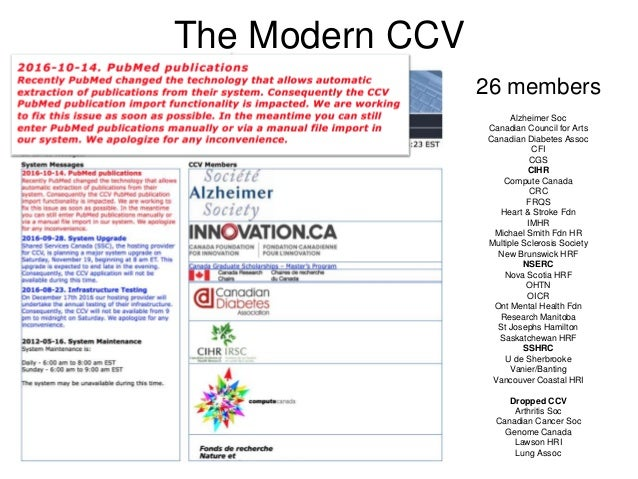 repaving the road to hell with the common cv and cihr reforms