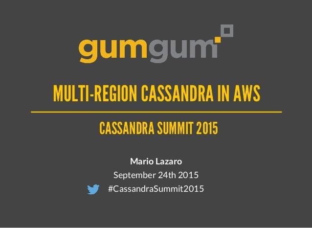 CASSANDRA SUMMIT 2015CASSANDRA SUMMIT 2015 Mario Lazaro September 24th 2015 #CassandraSummit2015 MULTI-REGION CASSANDRA IN...