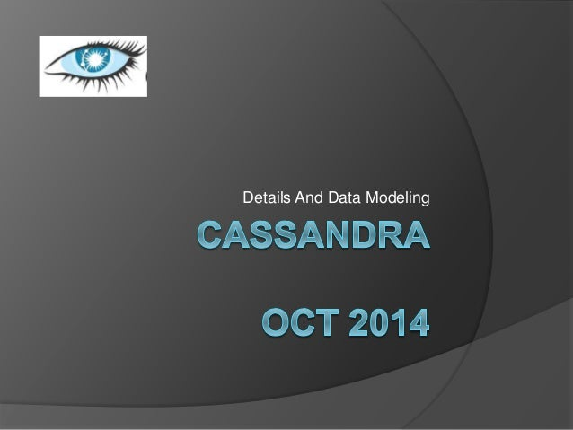 Details And Data Modeling